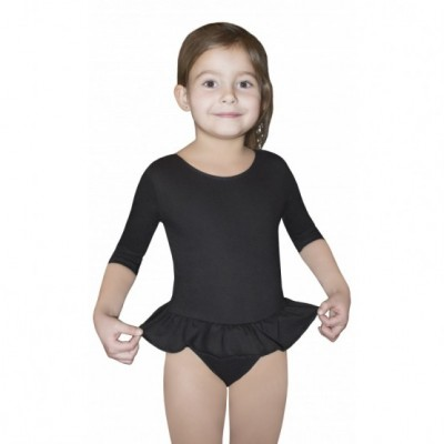 Body SUIT GIRLS 3 SLEEVE LEOTARD WITH SHORT FRILL -