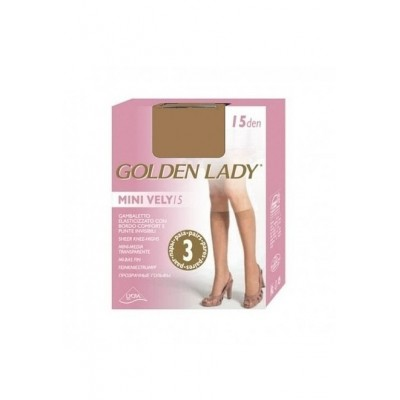 Podkolénky Golden Lady Mini Vely 15 den 3ks nero -